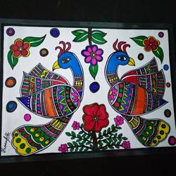 beauty of nature, 8 x 11 inch, rayana saha,8x11inch,drawing paper,paintings,madhubani paintings,paintings for dining room,paintings for living room,paintings for office,paintings for kids room,paintings for hotel,paintings for school,pen color,GAL01304623495
