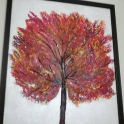 autmn tree, 16 x 14 inch, kanchana swapna korati,16x14inch,canvas,landscape paintings,paintings for living room,paintings for living room,acrylic color,GAL0817623498
