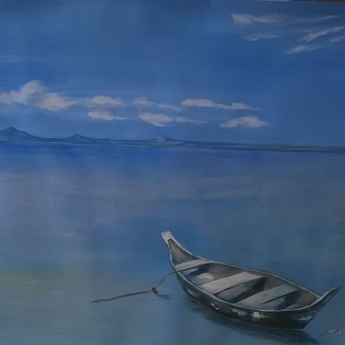 andaman, 30 x 21 inch, sayantan  ghati ,landscape paintings,paintings for bedroom,nature paintings,paper,acrylic color,30x21inch,GAL07702350Nature,environment,Beauty,scenery,greenery