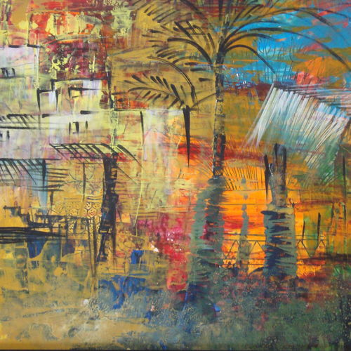changing time, 19 x 13 inch, amruta andre,19x13inch,canvas,paintings,abstract paintings,cityscape paintings,landscape paintings,modern art paintings,nature paintings,paintings for living room,paintings for bedroom,paintings for office,paintings for hotel,paintings for living room,paintings for bedroom,paintings for office,paintings for hotel,oil color,GAL01288223505