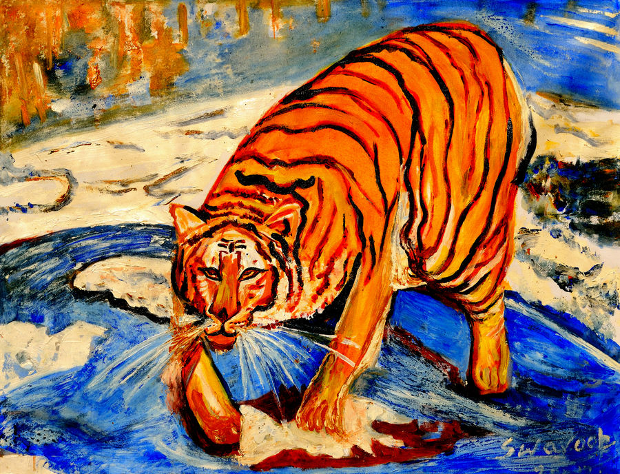 Buy Tiger Painting at Lowest Price by Anand Manchiraju