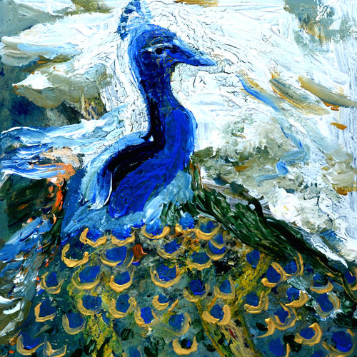 peacock-1, 12 x 15 inch, anand manchiraju,12x15inch,fabriano sheet,paintings,wildlife paintings,nature paintings,animal paintings,paintings for dining room,paintings for living room,paintings for kids room,mixed media,GAL01254023510