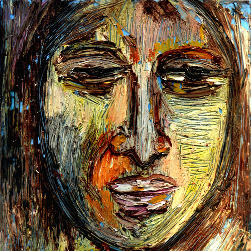 head-1, 12 x 15 inch, anand manchiraju,12x15inch,fabriano sheet,paintings,portrait paintings,expressionism paintings,paintings for dining room,paintings for living room,paintings for hotel,oil color,GAL01254023513