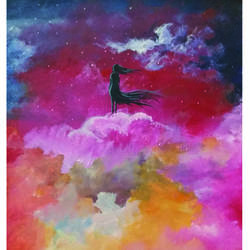ecstasy, 30 x 42 inch, rupam chaudhary,30x42inch,cloth,illustration paintings,paintings for living room,paintings for bedroom,paintings for living room,paintings for bedroom,acrylic color,fabric,GAL01330523531