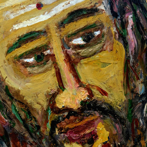 head-4, 12 x 15 inch, anand manchiraju,12x15inch,fabriano sheet,paintings,portrait paintings,paintings for dining room,paintings for living room,paintings for office,oil color,GAL01254023535
