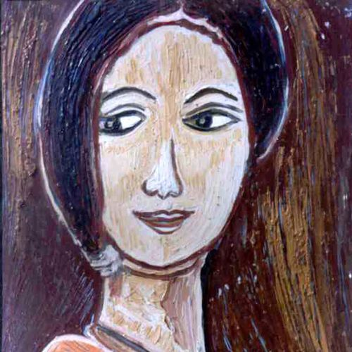 head-6, 12 x 15 inch, anand manchiraju,12x15inch,fabriano sheet,paintings,portrait paintings,paintings for dining room,paintings for living room,paintings for bedroom,oil color,GAL01254023537