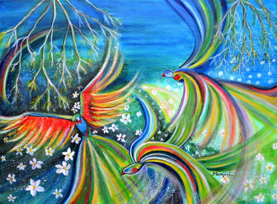 dance of the birds textured abstract, 24 x 18 inch, manjiri kanvinde,abstract paintings,paintings for living room,nature paintings,love paintings,canvas,acrylic color,24x18inch,GAL01202354heart,family,caring,happiness,forever,happy,trust,passion,romance,sweet,kiss,love,hugs,warm,fun,kisses,joy,friendship,marriage,chocolate,husband,wife,forever,caring,couple,sweetheartNature,environment,Beauty,scenery,greenery