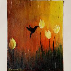 acrylic colour painting, 5 x 7 inch, somnath chakraborty,5x7inch,paper,paintings,abstract paintings,acrylic color,GAL01351023550