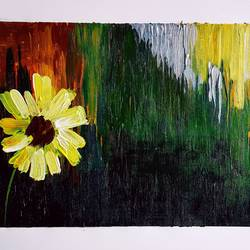 flower , 13 x 7 inch, somnath chakraborty,13x7inch,paper,paintings,abstract paintings,paintings for dining room,paintings for living room,paintings for office,paintings for hotel,paintings for hospital,acrylic color,GAL01351023554
