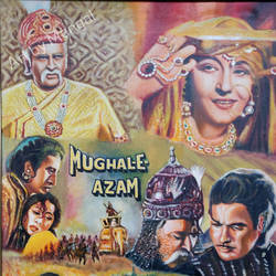 mughal-e-azam, 25 x 35 inch, mangal singh,25x35inch,canvas,paintings,portrait paintings,paintings for dining room,paintings for living room,paintings for office,oil color,GAL0648523557