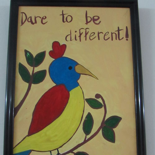 motivational quotation tile painting for kids, 8 x 12 inch, pragati singhal,8x12inch,acrylic glass,paintings,animal paintings,children paintings,kids paintings,paintings for bedroom,paintings for kids room,paintings for school,acrylic color,GAL01351823581