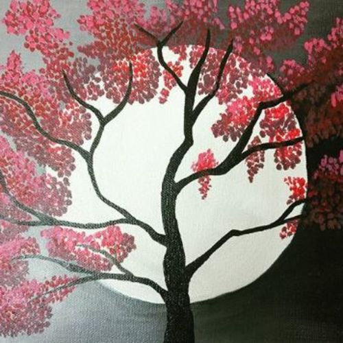 moonlight, 16 x 12 inch, sonal chaudhary,16x12inch,canvas,paintings,nature paintings,paintings for bedroom,paintings for bedroom,acrylic color,GAL0399823582