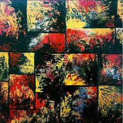 colour maze, 12 x 12 inch, sonal chaudhary,12x12inch,canvas,paintings,abstract paintings,acrylic color,GAL0399823584