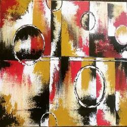 abstract geometry, 16 x 12 inch, sonal chaudhary,16x12inch,canvas,paintings,realistic paintings,acrylic color,GAL0399823587