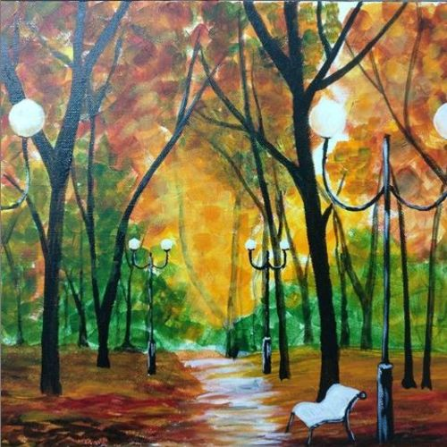 forestview, 12 x 12 inch, sonal chaudhary,12x12inch,canvas,paintings,wildlife paintings,nature paintings,paintings for dining room,paintings for living room,acrylic color,GAL0399823588