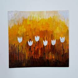 morning flowers, 11 x 7 inch, somnath chakraborty,11x7inch,paper,paintings,abstract paintings,flower paintings,paintings for dining room,paintings for living room,paintings for office,paintings for kids room,paintings for hotel,paintings for school,paintings for hospital,acrylic color,GAL01351023589