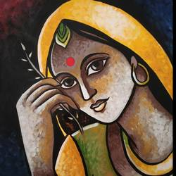 girl , 8 x 12 inch, aakansha rajpurohit,8x12inch,canvas,paintings,abstract paintings,acrylic color,GAL01352823592