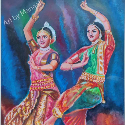 classical indian dance, 13 x 19 inch, mangal singh,13x19inch,canvas,still life paintings,portrait paintings,art deco paintings,photorealism,realistic paintings,paintings for dining room,paintings for living room,paintings for bathroom,paintings for hotel,paintings for school,paintings for hospital,paintings for dining room,paintings for living room,paintings for bathroom,paintings for hotel,paintings for school,paintings for hospital,acrylic color,GAL0648523598