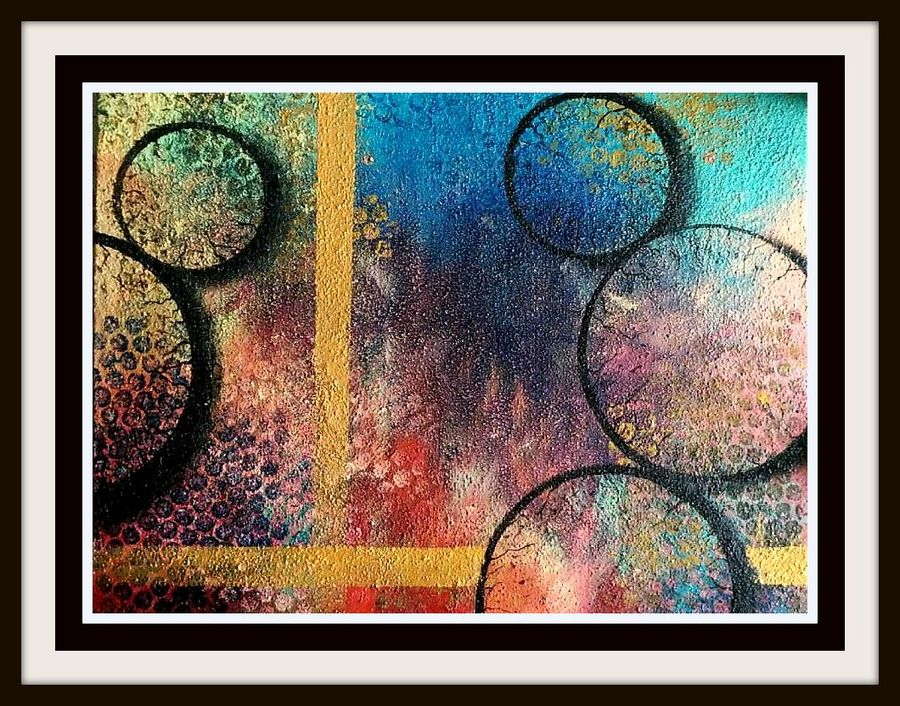 shade of circle , 12 x 16 inch, abhipsa das,abstract paintings,paintings for office,canvas,acrylic color,12x16inch,GAL0104236