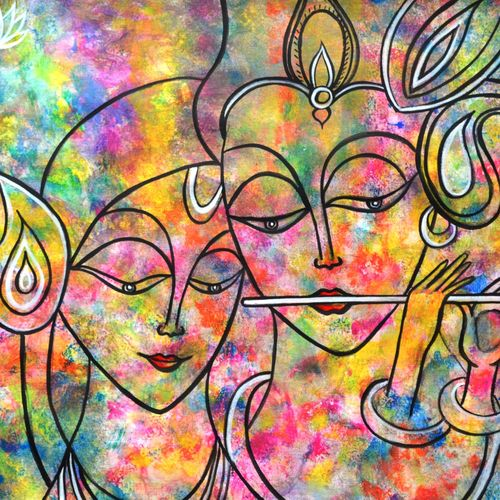 radha krishna holi abstract, 23 x 17 inch, manjiri kanvinde,radha krishna paintings,paintings for bedroom,religious paintings,paintings for office,love paintings,thick paper,acrylic color,23x17inch,GAL01202360heart,family,caring,happiness,forever,happy,trust,passion,romance,sweet,kiss,love,hugs,warm,fun,kisses,joy,friendship,marriage,chocolate,husband,wife,forever,caring,couple,sweetheart