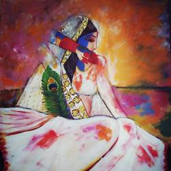 colors of love, 20 x 24 inch, mamta pandey ,20x24inch,canvas,paintings,radha krishna paintings,acrylic color,GAL0197123640