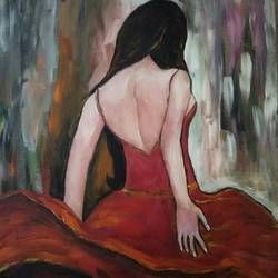 a beautiful woman , 24 x 18 inch, mamta pandey ,24x18inch,canvas,abstract paintings,paintings for living room,paintings for bedroom,paintings for office,paintings for hotel,paintings for living room,paintings for bedroom,paintings for office,paintings for hotel,acrylic color,GAL0197123649