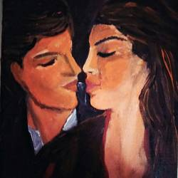 love and romance , 14 x 16 inch, mamta pandey ,14x16inch,canvas,paintings,love paintings,paintings for living room,paintings for bedroom,paintings for hotel,acrylic color,GAL0197123655