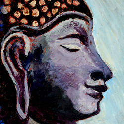 lord buddha-1, 12 x 15 inch, anand manchiraju,12x15inch,canvas,paintings,buddha paintings,paintings for dining room,paintings for bedroom,paintings for office,mixed media,GAL01254023656