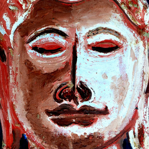 lord buddha-3, 12 x 15 inch, anand manchiraju,12x15inch,canvas,paintings,buddha paintings,paintings for dining room,paintings for living room,paintings for office,paintings for hospital,mixed media,GAL01254023658
