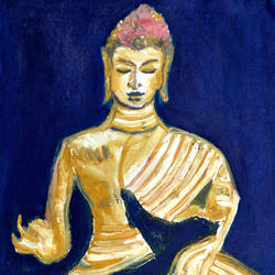 lord buddha-6, 12 x 15 inch, anand manchiraju,12x15inch,canvas,paintings,buddha paintings,paintings for dining room,paintings for living room,paintings for bedroom,mixed media,GAL01254023661