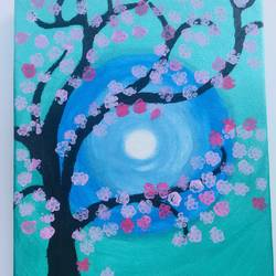 tree painting, 9 x 11 inch, veda dholakia,9x11inch,canvas,flower paintings,acrylic color,GAL01361023675