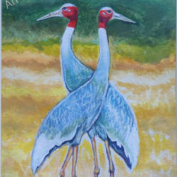 love in wildlife, 9 x 13 inch, mangal singh,9x13inch,canvas,wildlife paintings,photorealism paintings,photorealism,animal paintings,paintings for dining room,paintings for living room,paintings for office,paintings for hotel,paintings for school,paintings for dining room,paintings for living room,paintings for office,paintings for hotel,paintings for school,oil color,GAL0648523678