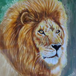 lion, 9 x 13 inch, mangal singh,9x13inch,canvas,paintings,wildlife paintings,animal paintings,paintings for dining room,paintings for living room,paintings for kids room,paintings for school,acrylic color,GAL0648523680