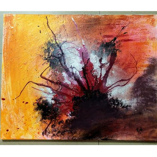 the catalyst, 30 x 24 inch, rashi rathore,30x24inch,canvas board,paintings,abstract paintings,modern art paintings,paintings for living room,paintings for office,paintings for hotel,paintings for living room,paintings for office,paintings for hotel,acrylic color,mixed media,GAL0897923700