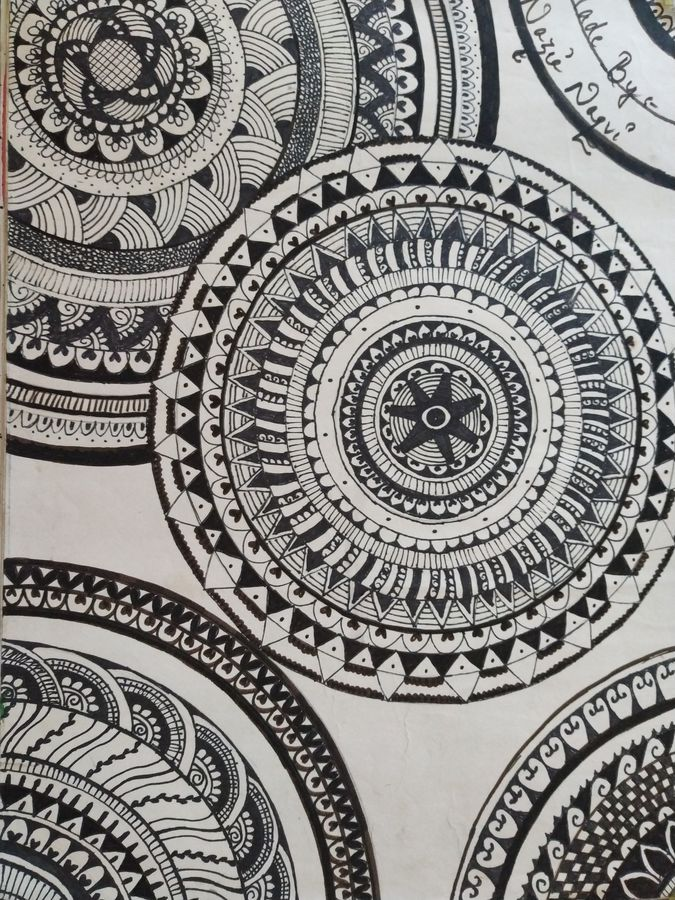 mandala, 23 x 33 inch, nazia naqvi,23x33inch,drawing paper,drawings,paintings for dining room,paintings for living room,paintings for bedroom,graffiti drawings,illustration drawings,modern drawings,paintings for dining room,paintings for living room,paintings for bedroom,pen color,GAL01358423706