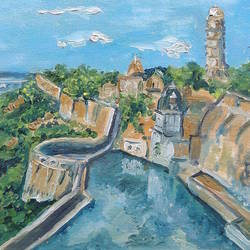 fort chittorgarh, 16 x 12 inch, lokesh singh solanki,16x12inch,canvas board,paintings,cityscape paintings,landscape paintings,impressionist paintings,oil color,GAL0992023726