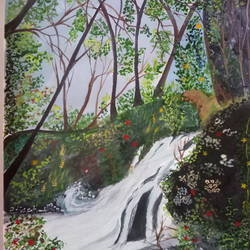 jungly waterfall, 8 x 12 inch, chandrani das,8x12inch,drawing paper,nature paintings,paintings for dining room,paintings for living room,paintings for bedroom,paintings for office,paintings for hotel,paintings for hospital,paintings for dining room,paintings for living room,paintings for bedroom,paintings for office,paintings for hotel,paintings for hospital,watercolor,GAL01316923730