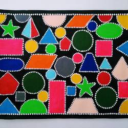 geometrical design, 15 x 11 inch, geeta kwatra,15x11inch,handmade paper,paintings,abstract paintings,modern art paintings,art deco paintings,kids paintings,paintings for kids room,acrylic color,GAL0899123748