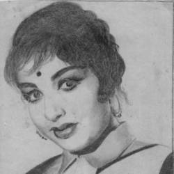 actress  j.jayalalithaa, 8 x 12 inch, john bosco mary,8x12inch,paper,drawings,photorealism drawings,portrait drawings,realism drawings,surrealism drawings,graphite pencil,GAL01232323759