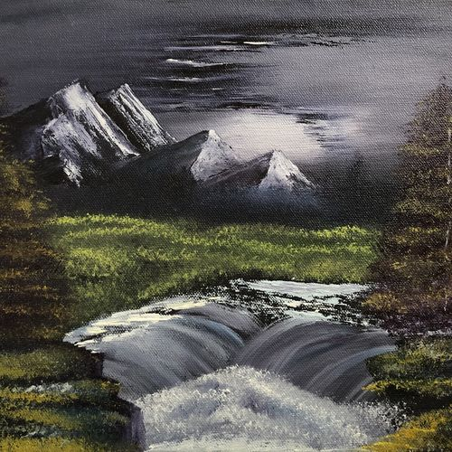 landscape painting oil on canvas - arctic beauty frozen waterfall, 12 x 10 inch, by the brush nasreen babi,12x10inch,canvas board,landscape paintings,nature paintings,realistic paintings,paintings for dining room,paintings for living room,paintings for bedroom,paintings for office,paintings for kids room,paintings for hotel,paintings for kitchen,paintings for school,paintings for hospital,paintings for dining room,paintings for living room,paintings for bedroom,paintings for office,paintings for kids room,paintings for hotel,paintings for kitchen,paintings for school,paintings for hospital,oil color,GAL01368623771