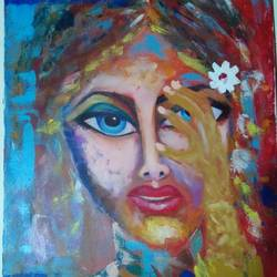 deep blue eye, 20 x 30 inch, vineeta  singh,20x30inch,canvas,paintings,abstract paintings,figurative paintings,acrylic color,GAL01238823781