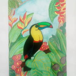 toucan, 8 x 10 inch, deepti agrawal,8x10inch,acrylic glass,paintings,wildlife paintings,flower paintings,landscape paintings,still life paintings,nature paintings,illustration paintings,paintings for dining room,paintings for living room,paintings for bedroom,paintings for office,paintings for bathroom,paintings for kids room,paintings for hotel,paintings for kitchen,paintings for school,paintings for hospital,mixed media,glass,GAL0596823809