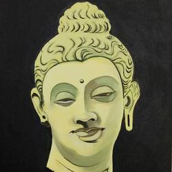 calm buddha, 14 x 18 inch, ghanshyam  singh,14x18inch,canvas,paintings,buddha paintings,figurative paintings,religious paintings,portrait paintings,paintings for dining room,paintings for living room,paintings for bedroom,paintings for office,paintings for kids room,paintings for hotel,paintings for kitchen,paintings for school,paintings for hospital,oil color,GAL01361323813