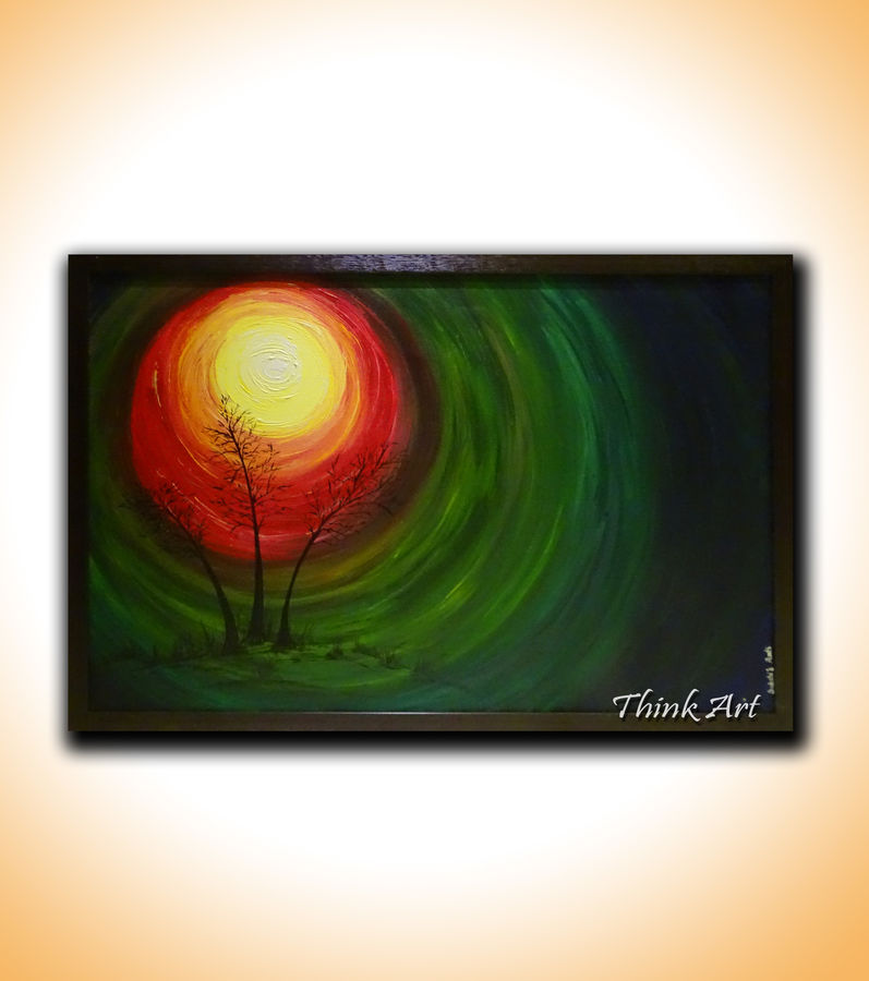 sunrise , 38 x 26 inch, sakshi agarwal,abstract paintings,paintings for living room,canvas,acrylic color,38x26inch,GAL06712382
