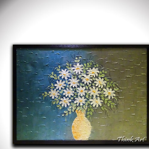 flowers & shades, 42 x 32 inch, sakshi agarwal,abstract paintings,paintings for living room,canvas,acrylic color,42x32inch,GAL06712383