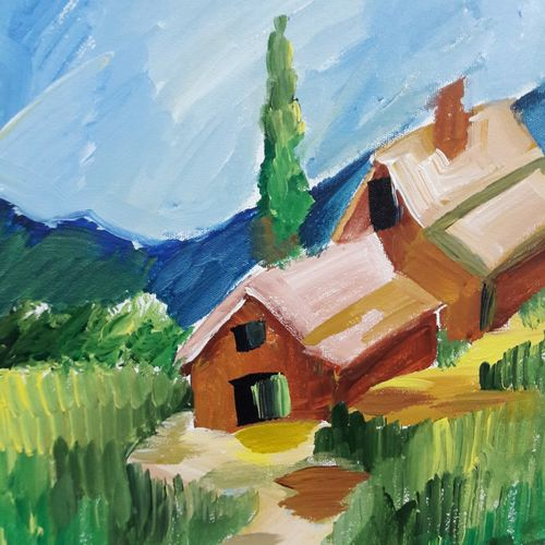 the beautiful hills , 12 x 16 inch, ratul banerjee,12x16inch,canvas,paintings,landscape paintings,nature paintings,paintings for living room,paintings for bedroom,paintings for office,paintings for kids room,paintings for hotel,paintings for kitchen,paintings for school,acrylic color,GAL0356423836