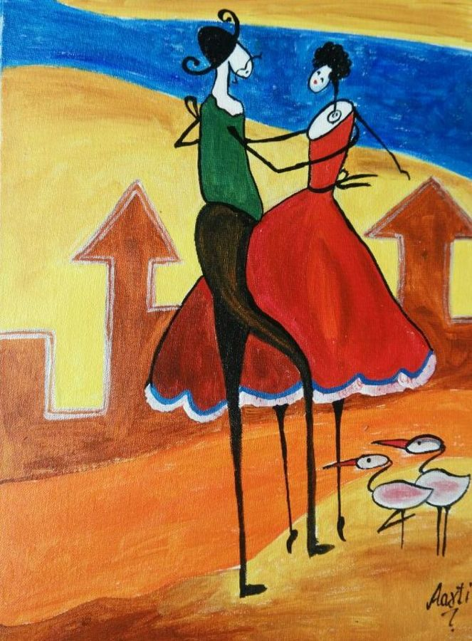couple- canvas oil, 12 x 16 inch, aarti  singh ,modern art paintings,paintings for living room,love paintings,canvas,oil,12x16inch,GAL09282384heart,family,caring,happiness,forever,happy,trust,passion,romance,sweet,kiss,love,hugs,warm,fun,kisses,joy,friendship,marriage,chocolate,husband,wife,forever,caring,couple,sweetheart