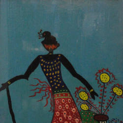 creative art , 12 x 18 inch, ranita sharma,12x18inch,hardboard,paintings,folk art paintings,acrylic color,GAL01370523843
