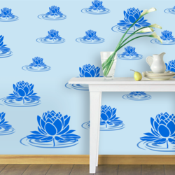 wall stencil: royal lotus design wall stencil , 3 stencil (size 16x11, 8x11, 5x7 inches) | reusable | diy, 12 x 12 inch, wall stencil designs,12x12inch,ohp plastic sheets,flower designs,plastic,GAL0123857,ASB-2