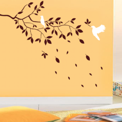 wall stencil: trendy leaf design wall stencil , 9 pieces of stencil (size 66x41 inches) | reusable | diy, 66 x 41 inch, wall stencil designs,66x41inch,ohp plastic sheets,flower designs,plastic,GAL0123863,ASB-07